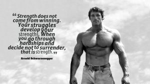 Arnold Schwarzenegger Strength Quotes Wallpaper