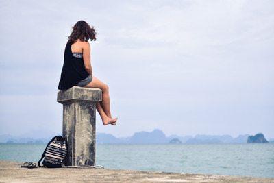 meditation seashore