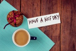 Cup-of-coffee-and-cookies-on-the-table.-Wishing-a-nice-day.-Pleasant-surprise-a-friend-or-loved-one.-Note-on-the-table-next-to-the-coffee-and-biscuits._231950533-300x200