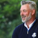 GEORGE, SOUTH AFRICA - FEBRUARY 18: Darren Clarke moments after being announced as captain of Team Europe for the 2016 Ryder Cup during the Dimension Data Pro-Am at Fancourt Golf Estate on February 18, 2015 in George, South Africa. (Photo by Luke Walker/Sunshine Tour/Gallo Images/Getty Images)